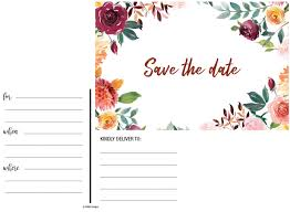 50 Rustic Watercolor Floral Rose Save The Date Cards For Weddings Before Invitations For Wedding