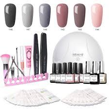 modelones gel nail polish kit with uv