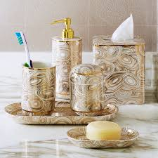 gold and white bathroom accessories. malachite white \u0026 gold toothbrush holder | bath accessories jonathan adler and bathroom