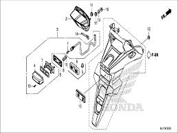 Honda motorcycle 2017 crf1000 honda parts section taillight license light