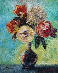 35 paintings of flowers by famous artists