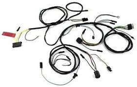mustang head light wiring harness with gauges 1965 alloy metal