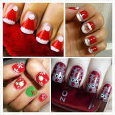 ideas of easy Christmas Nail Art For Short Nails (8 ...
