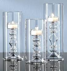 tall silver pillar candle holders glass tealight in the shape of candlesticks