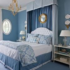 blue and white bedroom type