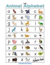 Animal Abc Chart Animal Alphabet Chart By Funetic Farm