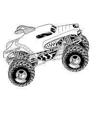 Adult Coloring Pages Of Monster Trucks Coloring Pages Of Huge