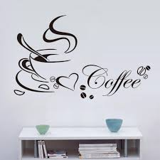 Small Picture Pvc Love Coffee Pattern Wall Stickers Living Room Bedroom Tv Sofa