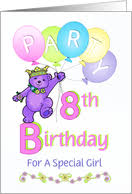 8th Birthday Party Invitations 8th Birthday Invitations From Greeting Card Universe