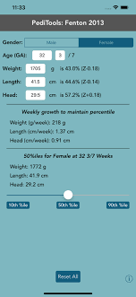 Peditools Fenton Growth Chart Peditools Fenton 2013 For Ios Free Download And Software