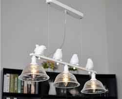 modern european bird chandelier led lamps three light led chandelier e14 led light retro art glass