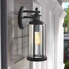 motini black outdoor wall lights with