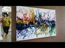 Акриловая заливка. Acrylic Fluid Pouring - YouTube