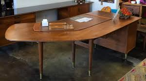 mid century modern office desk. high style for the midcentury office boomerang desk and 9foot credenza mid century modern d