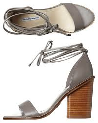 Windsor Smith Klein Womens Leather Heel Lilac Grey