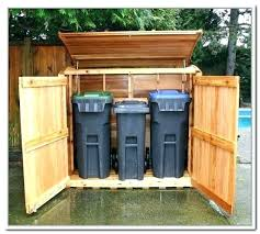 outdoor garbage storage shed plans trash can bin t