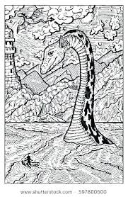 Sea Monster Coloring Pages Smithfarmspacom
