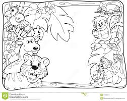 Jungle Animals Coloring Pages Awesome Sloth Rainforest Animals ...