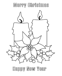 Small Picture Christmas Candles Coloring pages Merry Christmas Candles
