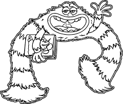 Small Picture Monsters University Coloring Pages paginonebiz