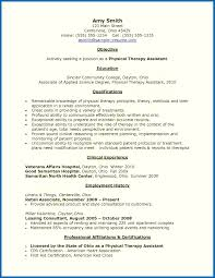 Physical Therapy Assistant Resume New Physical Therapist Resume ...