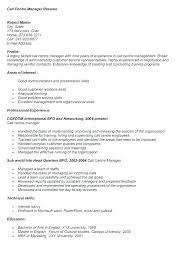 Inbound Call Center Job Resume Call Centre Job Resume
