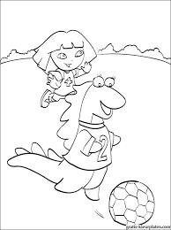 Dora Voetballen Met Haar Vriendin Isa De Leguaan Kleurplaat Gratis