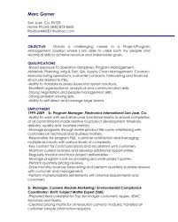 Modern Marketing Resume Resume Objectives For Managers Modern Marketing Manager Indeed