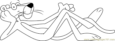 Small Picture Pink Panther Sleeping Coloring Page Free The Pink Panther