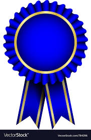 Blue Ribbon Design Blue Badge With Ribbon