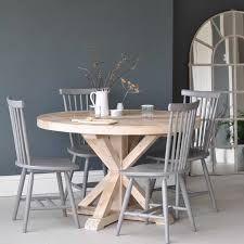 circular reclaimed wood round dining table