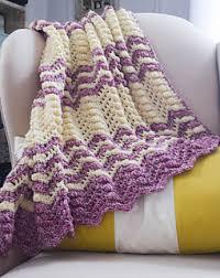 Free Crochet Pattern New Ravelry Berry Cobbler Ripple Blanket pattern by Marie Segares