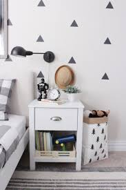 Black and White Boy's Room with Triangle Decals - Project Junior