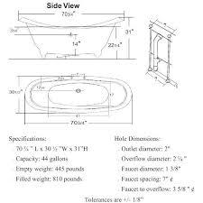 clawfoot tub dimensions. Follonica Clawfoot Bathtub Tradewindsimports Dimensions Tub E