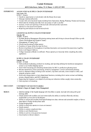 Resume Samples For Supply Chain Management Supply Chain Internship Resume Samples Velvet Jobs 11