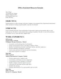 Resume Examples For Administrative Assistant Unique Medical Office Assistant Resume Samples Medical Office