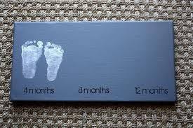 Awesome Idea Babys Footprints As Nursery Art New Baby