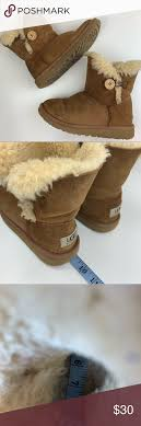 Ugg Kids Bailey Button Chestnut Boots 13 1 Tags Have Been