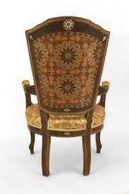 Middle eastern style furniture Wooden Set Of Six Middle Eastern Inlaid Dining Chairs In Good Condition For Sale In New York Everythingalycecom Set Of Six Middle Eastern Inlaid Dining Chairs For Sale At 1stdibs