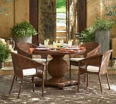 wicker round pedestal dining table honey saved view larger roll over image to zoom