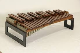Musical Furniture Sold Deagan Chicago Signed 3 Octave Xylophone Musical Instrument