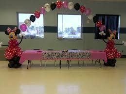 Pink And Black Minnie Mouse Decorations Balloon Creations By Velda Minnie Mouse Theme Birthday Party