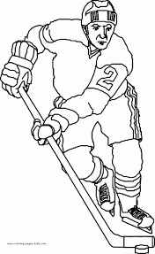 Hockey Coloring Sheets Pro Hockey Player Coloring Pages Sports