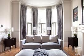 bay window curtain rods ideas