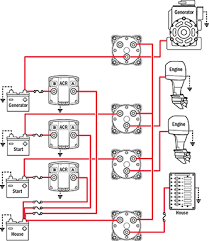 battery management wiring schematics for typical applications can isolate any battery source from any batteries 4 selector battery switches 3 automatic charging relays