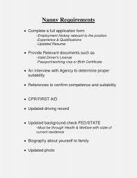 Babysitting Bio Resume Sample Luxurytter Job Description