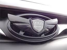 black hyundai genesis logo. Fine Hyundai Hyundai Genesis Coupe Wing Emblem Kit  Hood And Black Logo L