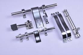 white metal door handle kit
