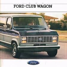 Details About 1988 Ford Club Wagon Van Brochure Catalog W Color Chart E 150 250 350 Xlt Xl