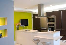 The design soft green color in the interior Home Interior Design